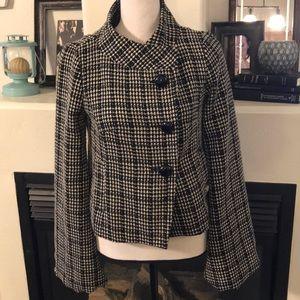 Size S - Heatherette Plaid Cropped Jacket Coat